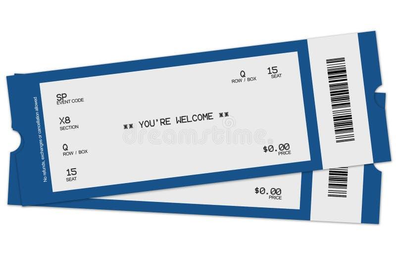 Dois bilhetes ilustração royalty free