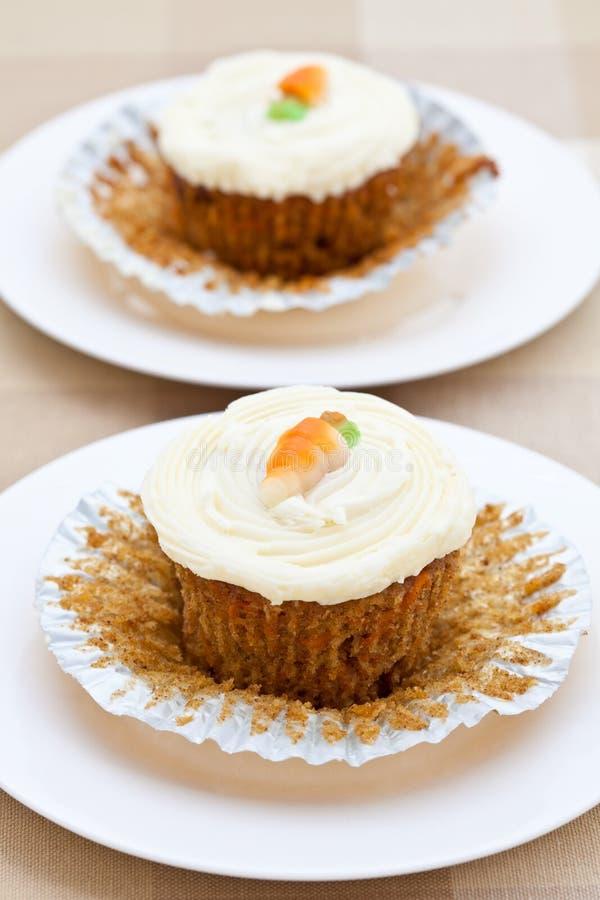 Dois bolos de cenoura recentemente cozidos foto de stock royalty free