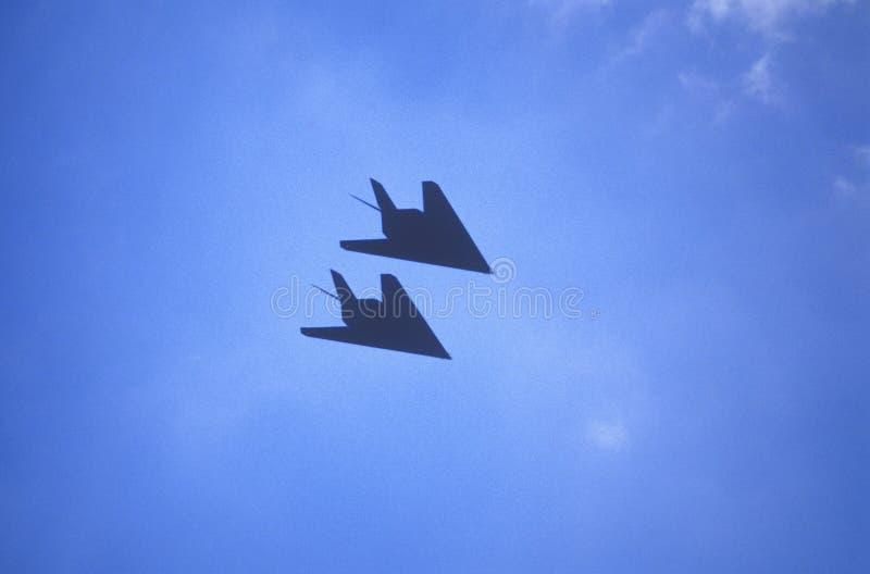 Dois bombardeiros do discrição em voo, Washington, D C fotografia de stock royalty free