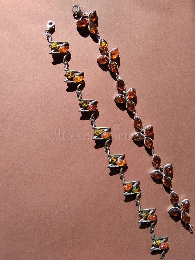Dois braceletes bonitos imagem de stock royalty free