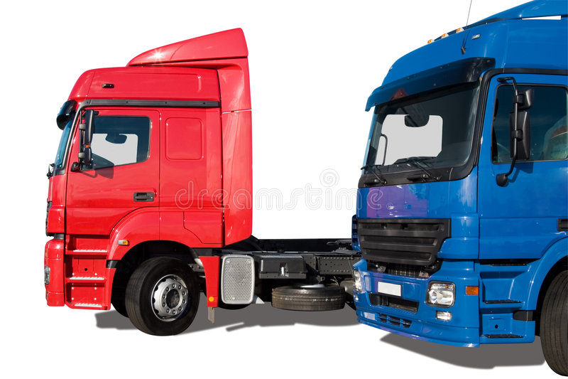 Dois caminhões imagem de stock