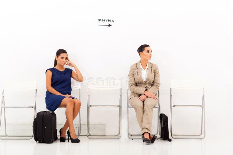 Entrevista de trabalho dos candidatos imagem de stock