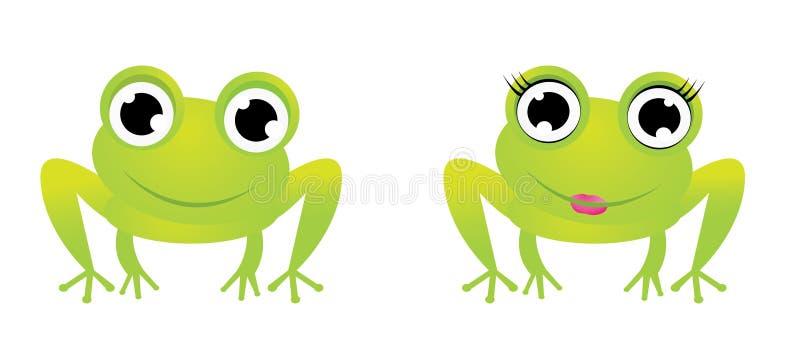 Dois caráteres bonitos da râ foto de stock royalty free