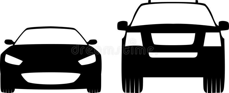 Dois carros fotografia de stock
