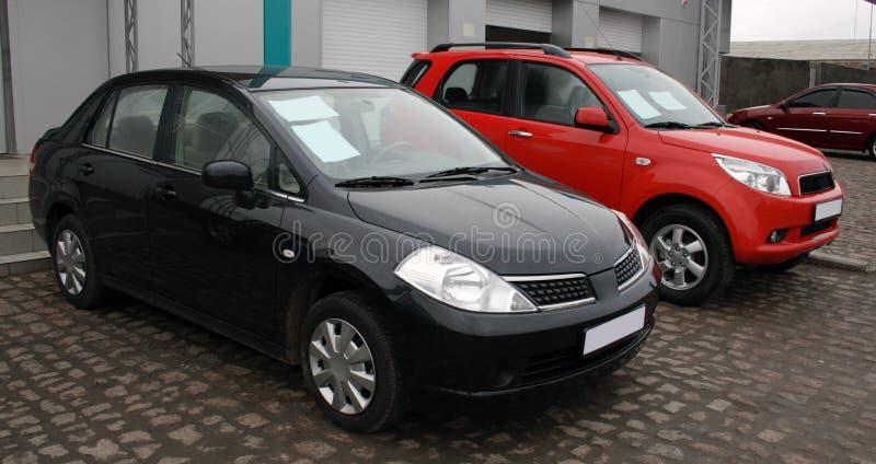 Dois carros novos para a venda foto de stock royalty free