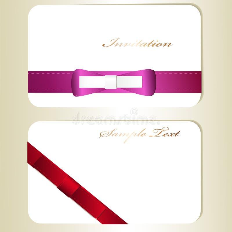 Download Dois cartões ilustração do vetor. Ilustração de aniversário - 29840407
