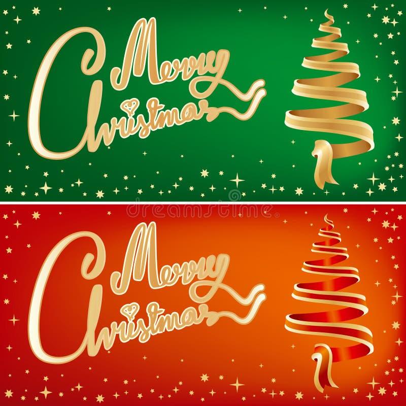 Dois cartões de Natal ilustração do vetor