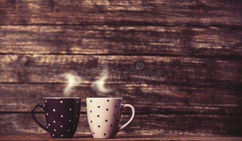 Dois chá ou copo de café imagens de stock royalty free