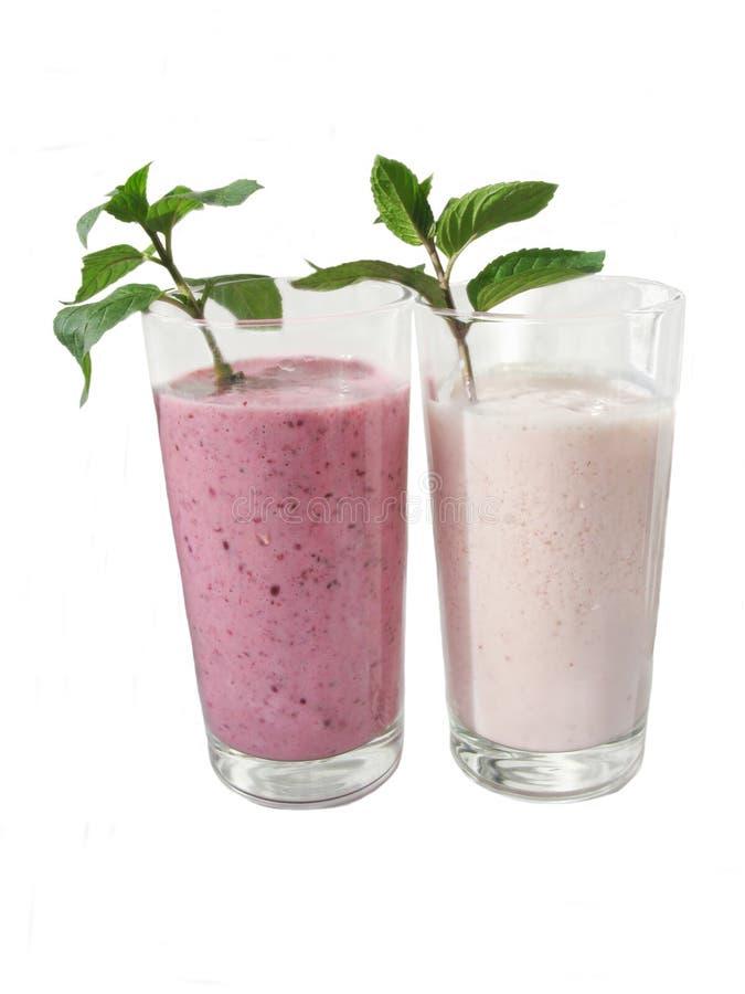 Dois cocktail leitosos imagens de stock royalty free