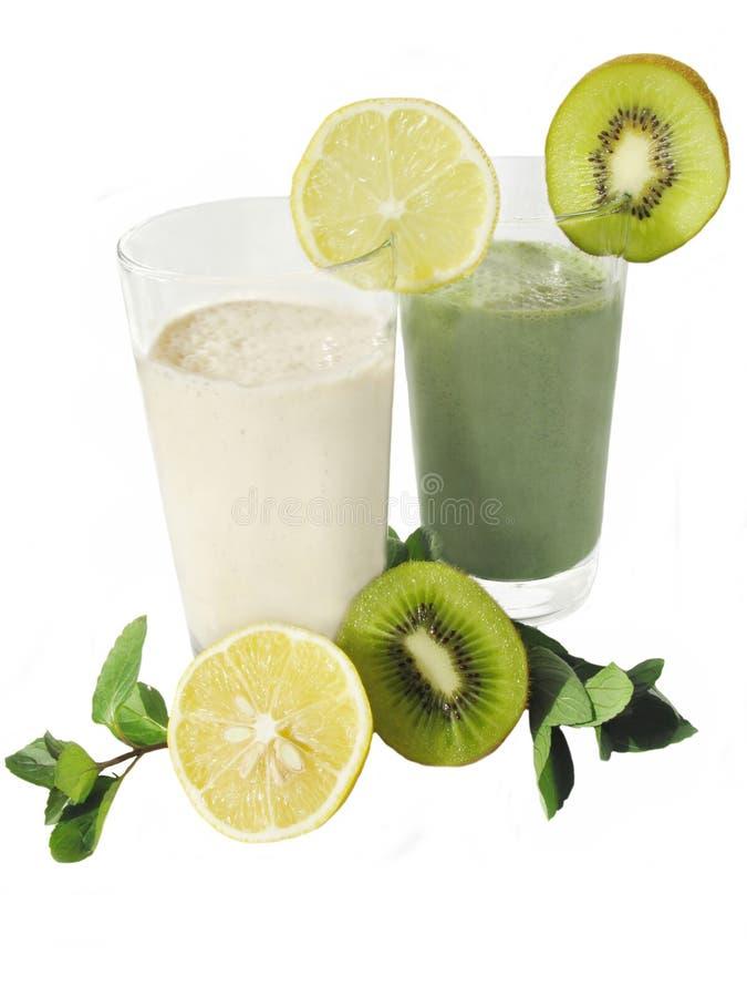 Dois cocktail leitosos imagem de stock
