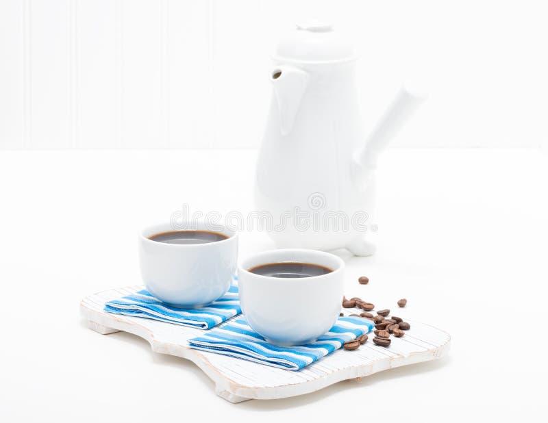 Dois copos de café fotografia de stock