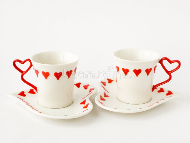Dois copos de café imagens de stock royalty free