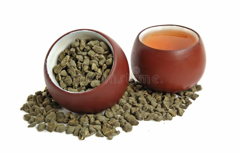 Dois copos de chá foto de stock royalty free