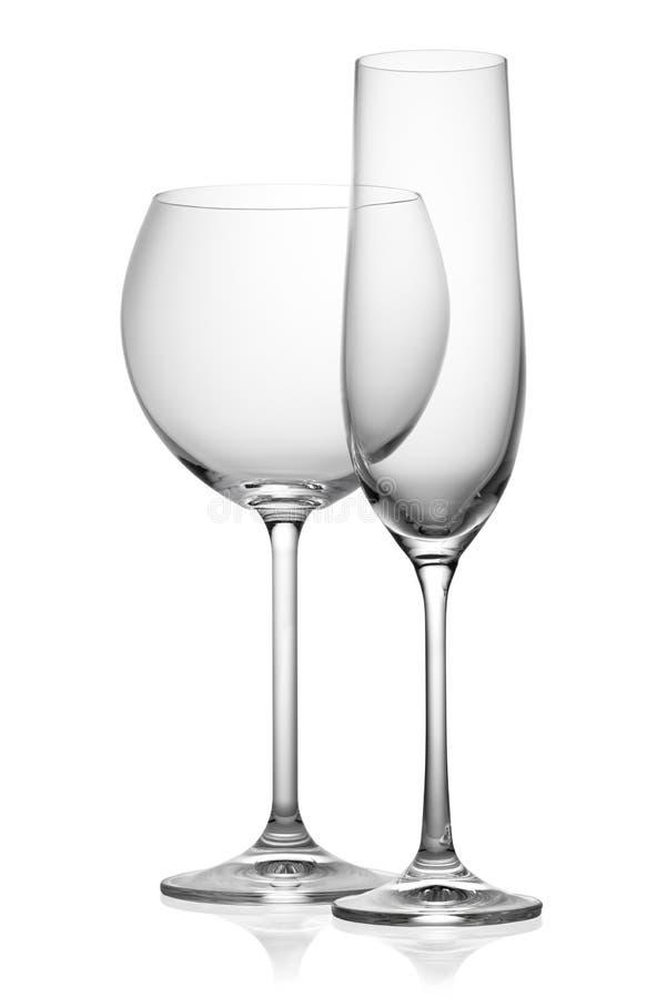 Dois copos de vinho isolados fotos de stock