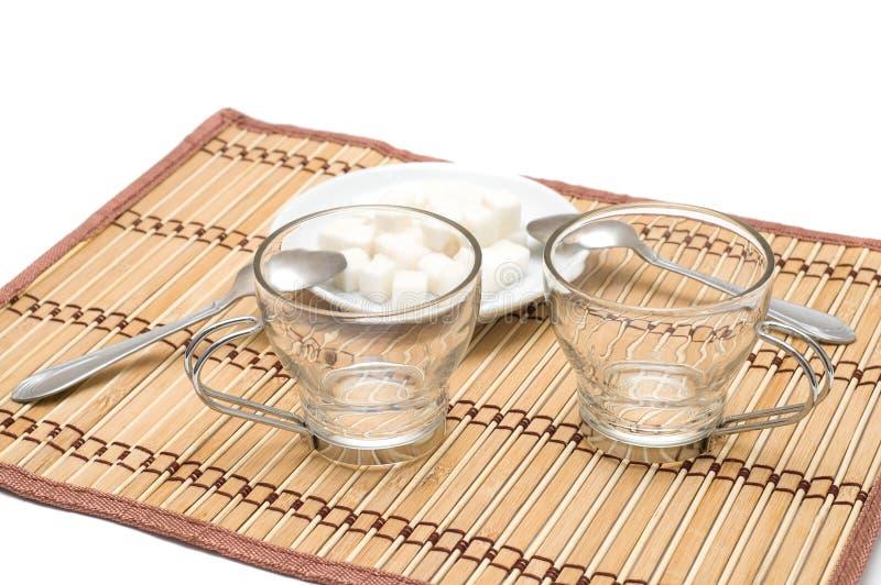 Dois copos vazios fotografia de stock