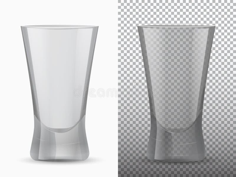 Dois copos vazios transparentes e opacos ilustração do vetor