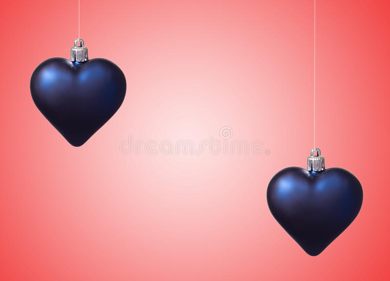 Download Dois Corações Do Xmas No Vermelho Foto de Stock - Imagem de pequeno, fundo: 16852294