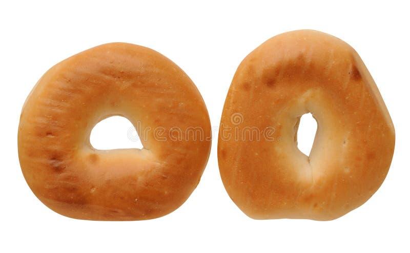 Dois bagels cozidos foto de stock royalty free