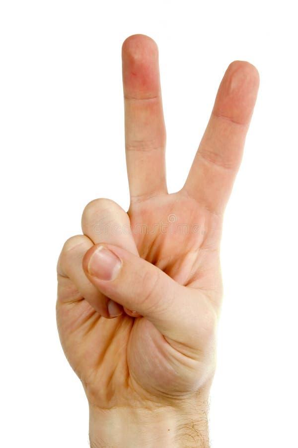 Dois dedos imagem de stock