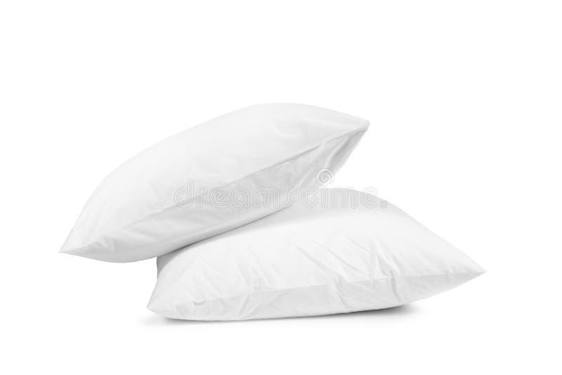 Dois descansos brancos isolados, descansam em um fundo branco imagens de stock