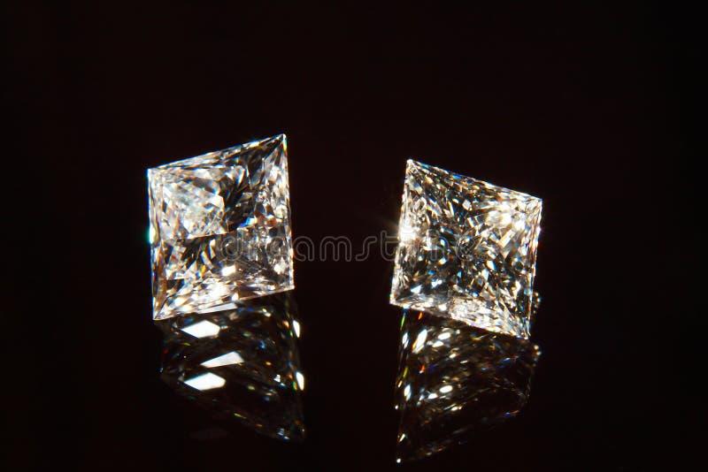 Dois diamantes. foto de stock royalty free