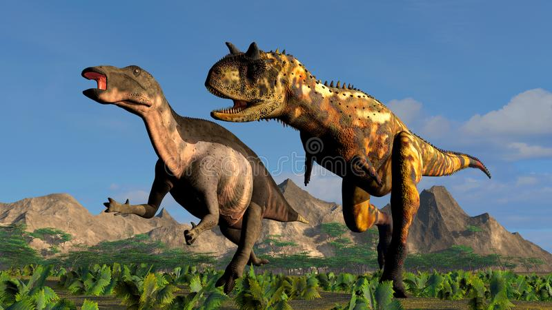 Dois dinossauros ilustração royalty free