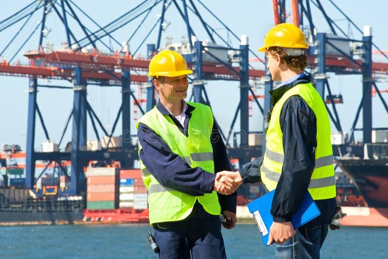 Dois Dockers imagem de stock royalty free