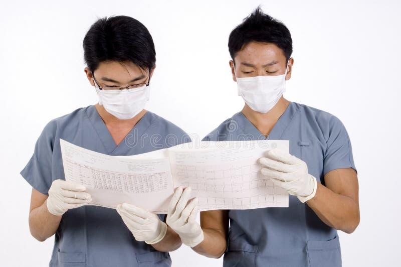 Dois doutores fotografia de stock
