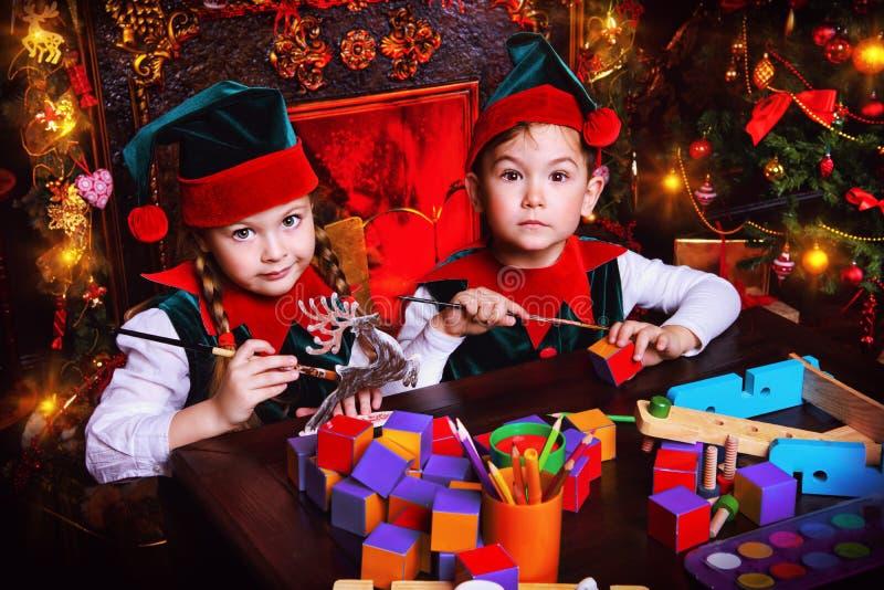 Dois duendes foto de stock