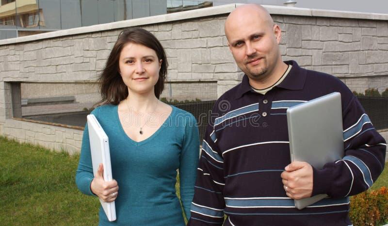 Dois estudantes foto de stock