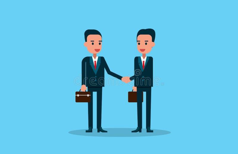 Dois executivos que agitam as mãos Negócio da ilustração do vetor ilustração stock