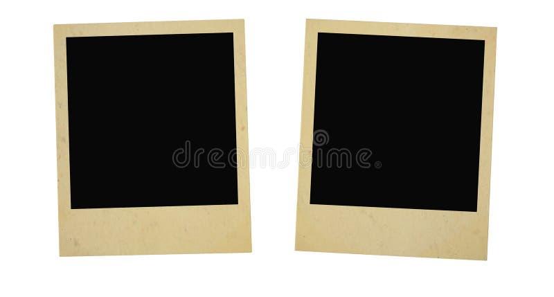 Dois frames da foto do vintage foto de stock royalty free