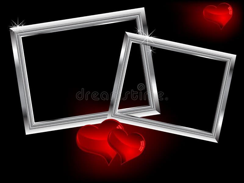 Dois frames de prata ilustração royalty free