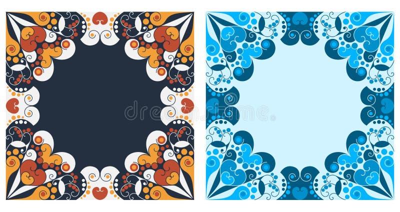 Dois frames decorativos ilustração stock