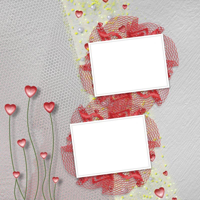 Dois frames do grunge para fotos ilustração stock