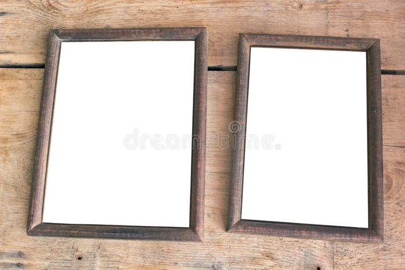 Dois frames velhos da foto imagem de stock