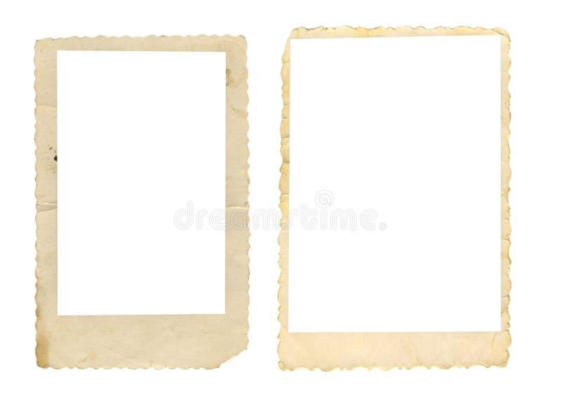 Dois frames velhos da foto fotografia de stock