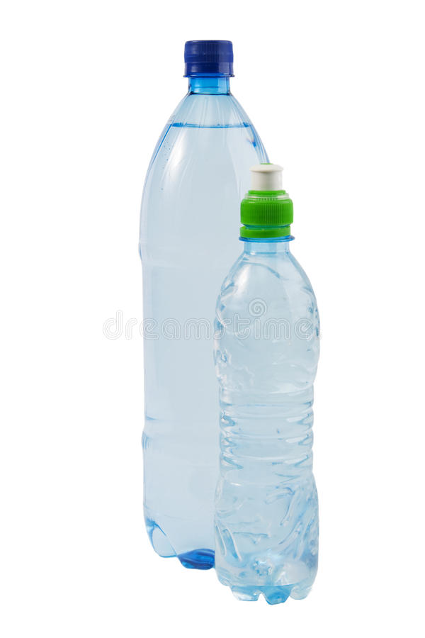 Dois frascos com água imagens de stock