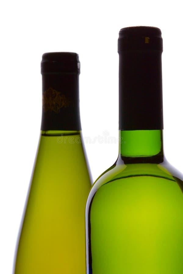 Dois frascos de vinho imagem de stock