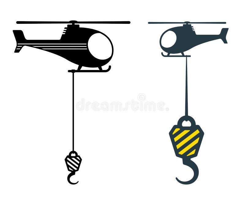Dois ganchos resistentes suspendidos dos interruptores inversores ilustração royalty free