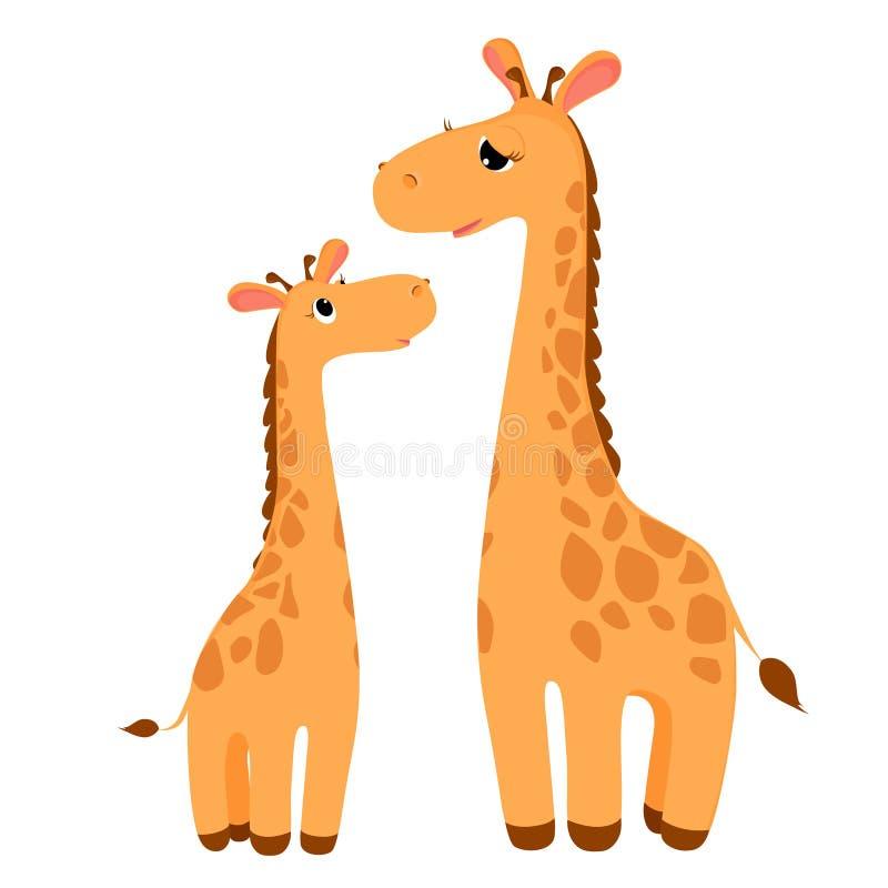 Dois giraffes ilustração stock