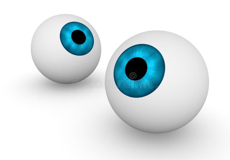 Dois globos oculares ilustração do vetor