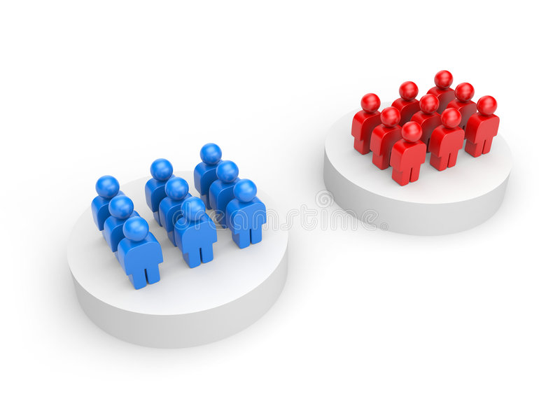 Dois grupos ilustração do vetor