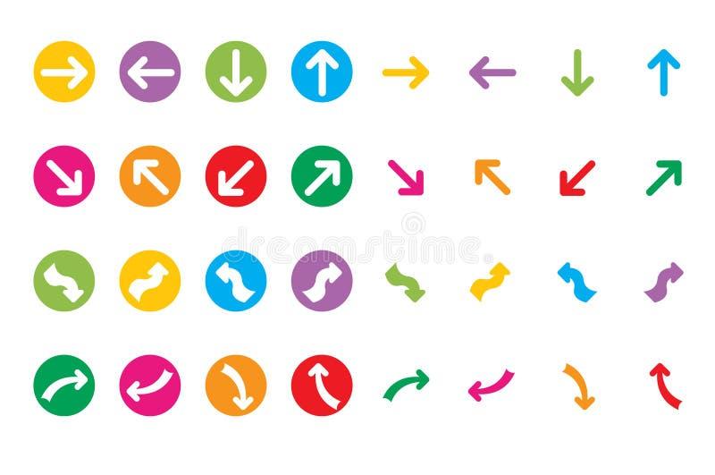 Ícones da seta da Web imagem de stock