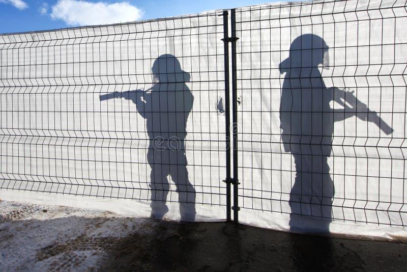 Dois guardiães imagem de stock