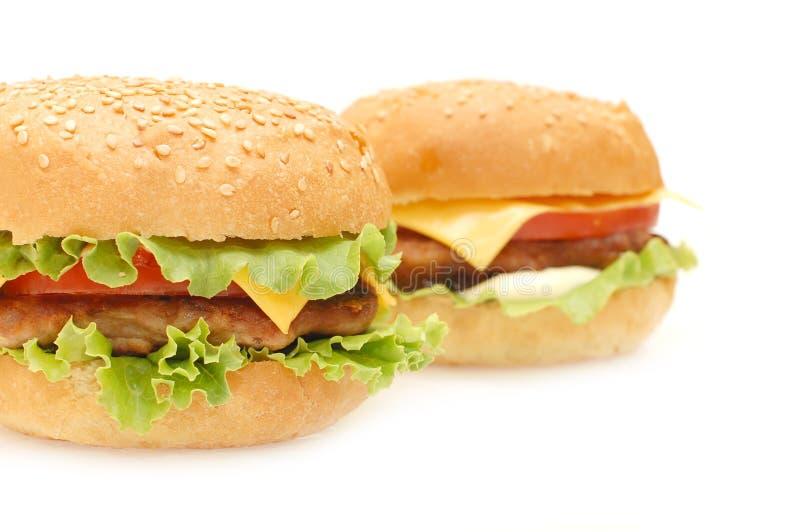 Dois Hamburger imagens de stock royalty free