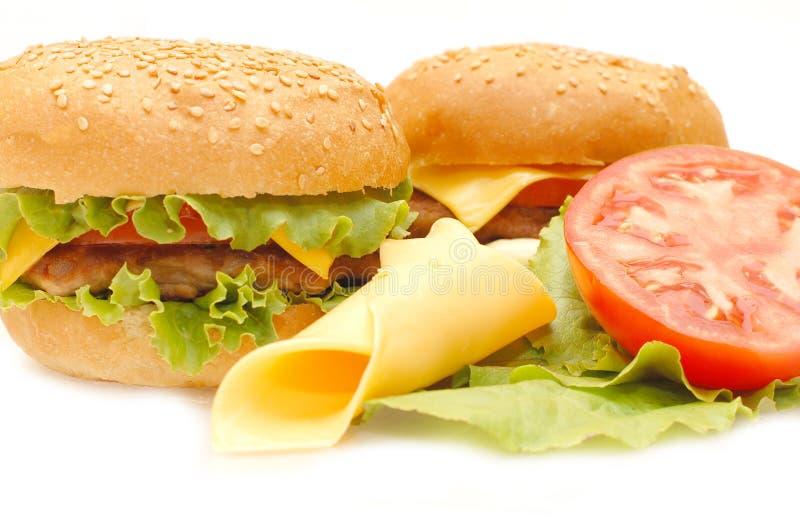 Dois Hamburger imagens de stock