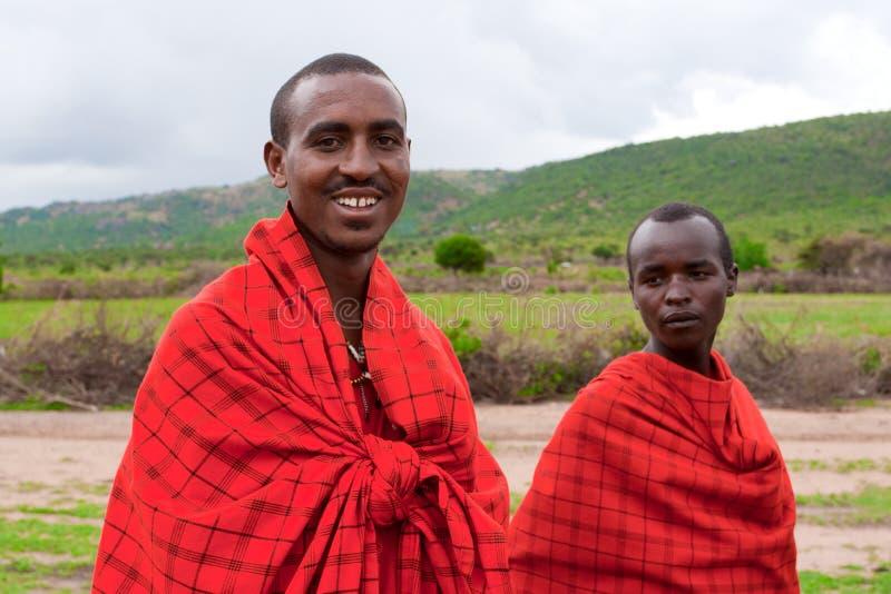Dois homens africanos imagem de stock