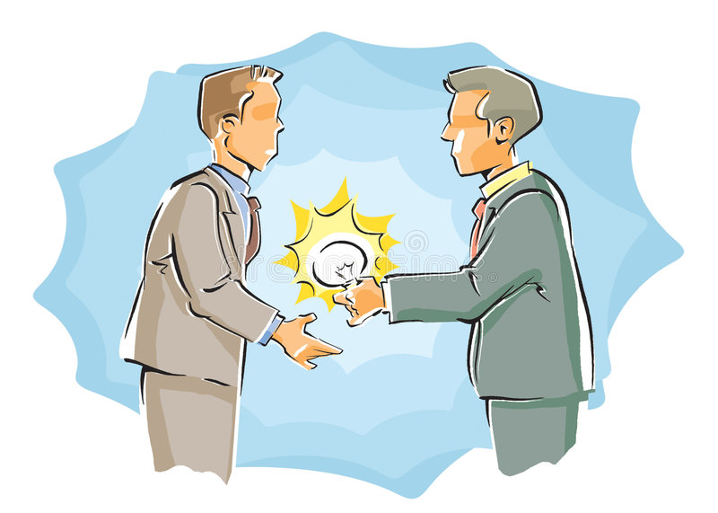 Dois homens de negócios ilustração stock