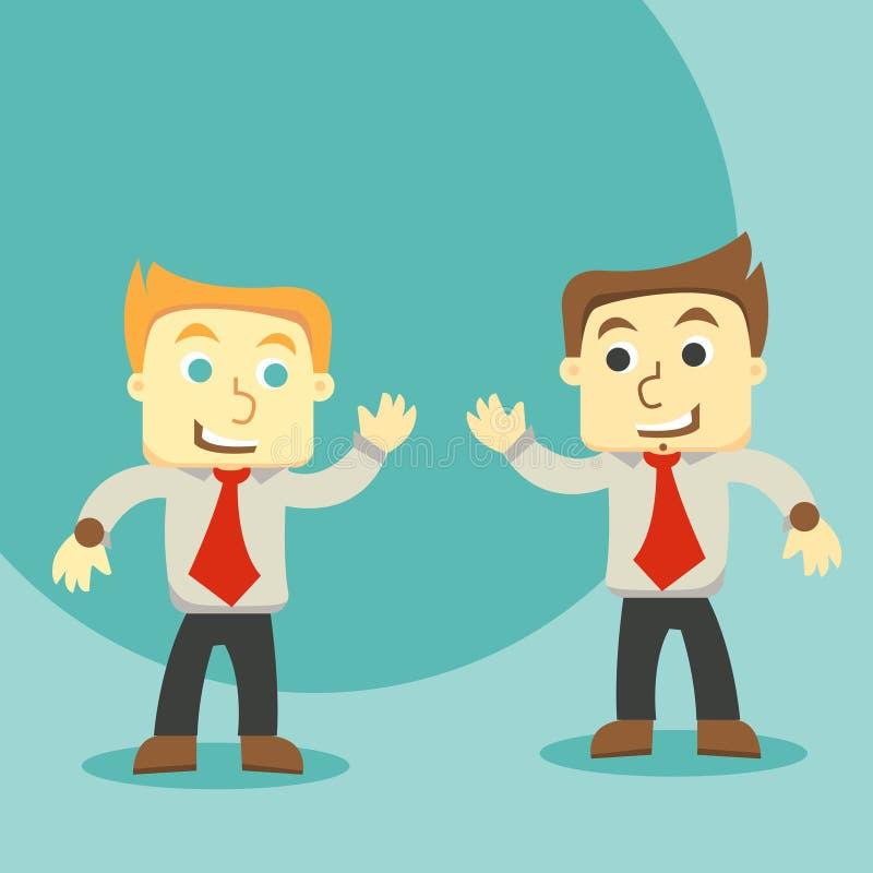 Dois homens de negócios que discutem ilustração royalty free